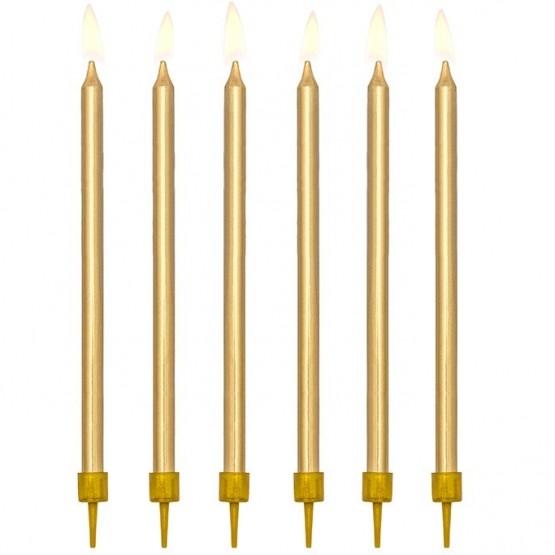 Rođendanske svećice zlatne - 12 kom