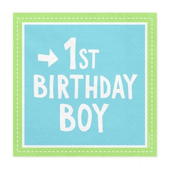 Salvete 1st Birthday Boy 33cm - 20 kom
