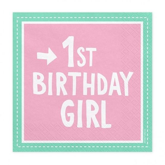 Salvete 1st Birthday Girl 33cm - 20 kom