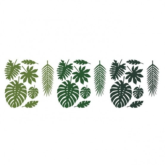 Dekoracije Aloha tropsko lišće - 21 kom