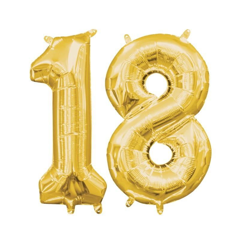 18. rođendan - zlatni - 86cm