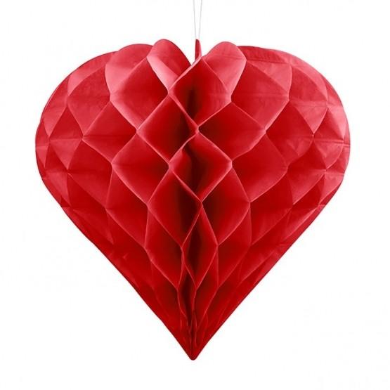 Honeycomb crveno srce – 20cm