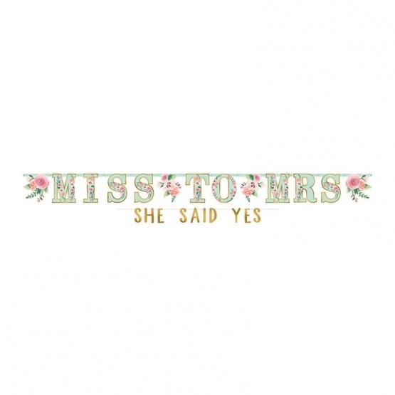 Baner Miss to Mrs - 301cm