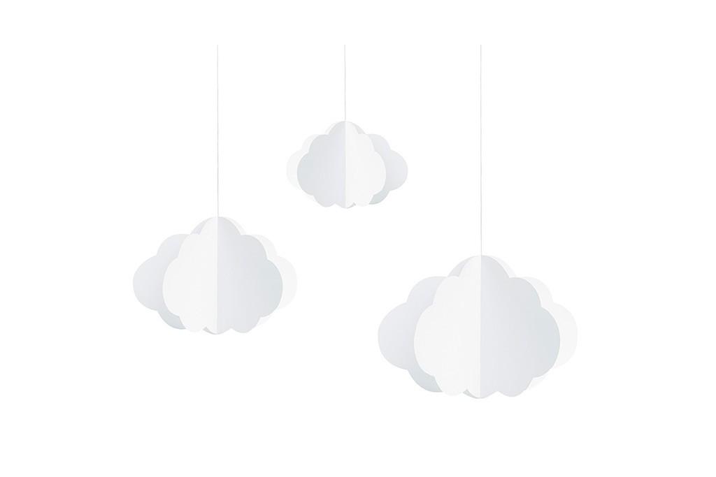 Viseća dekoracija oblaci - 3 kom