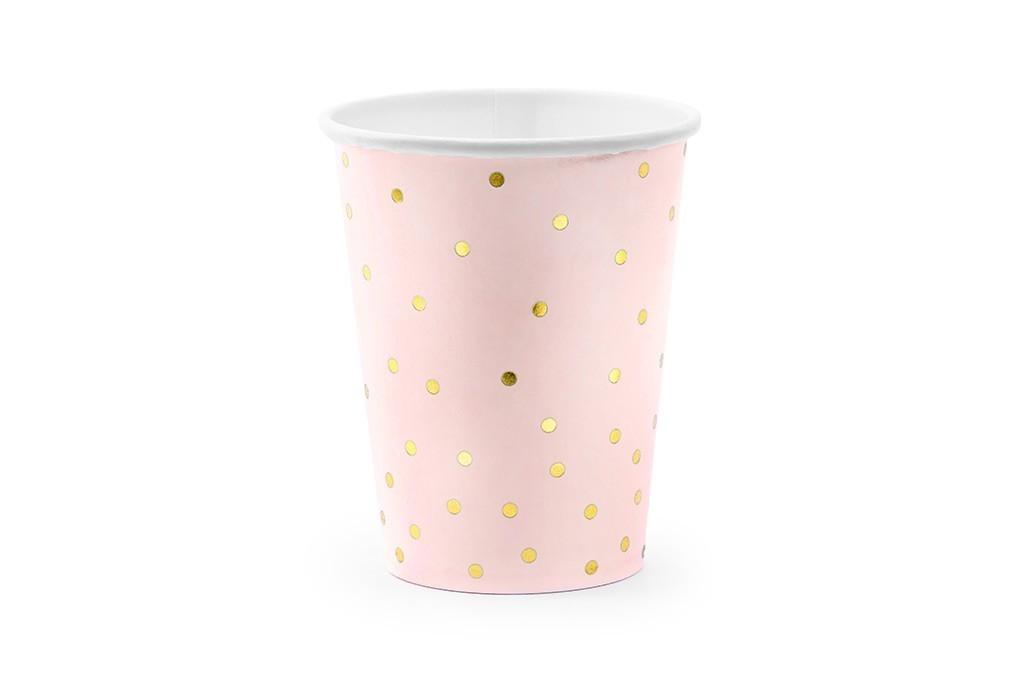 Čaše zlatne tufne 160ml - 6 kom