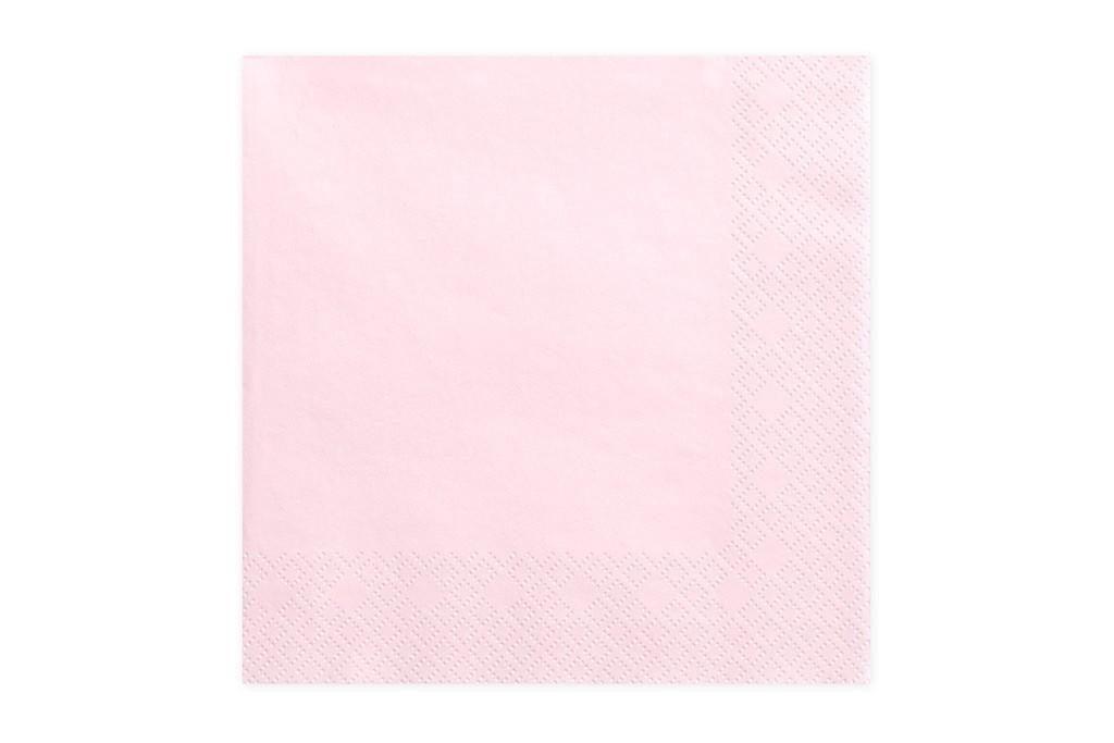 Salvete svetlo roze 33cm - 20 kom
