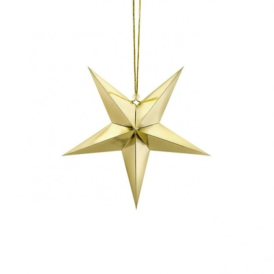 Viseća dekoracija zlatna zvezda - 30cm