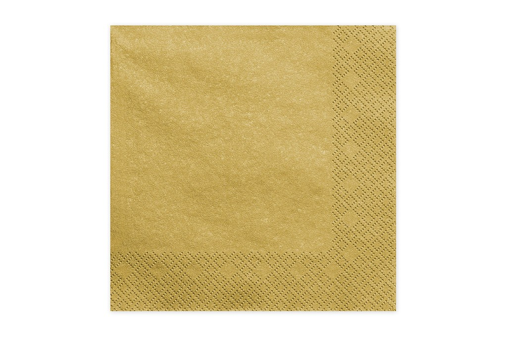 Salvete zlatne metalik 33cm - 20 kom