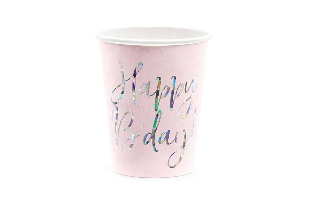 Čaše Happy B'day 220ml - 6 kom