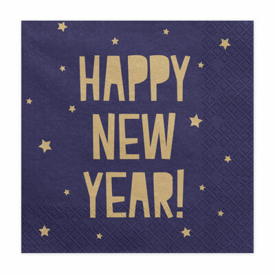 Salvete Happy new year 33cm - 20 kom
