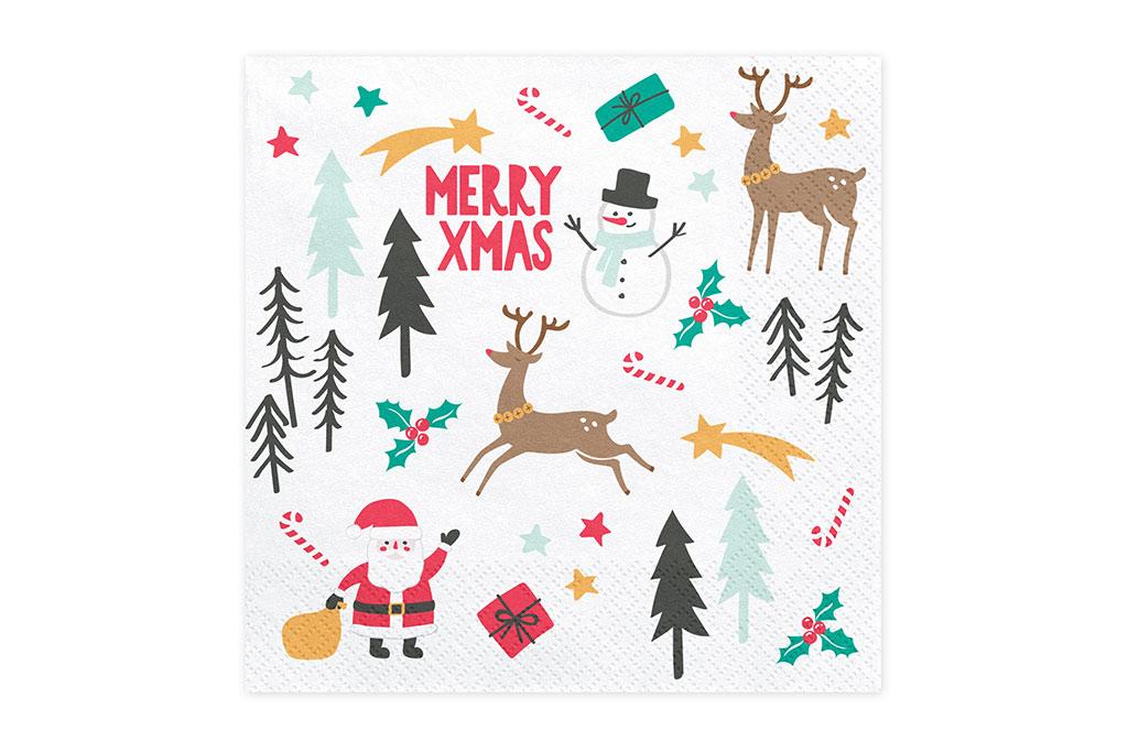 Salvete Merry Xmas 33cm - 20 kom