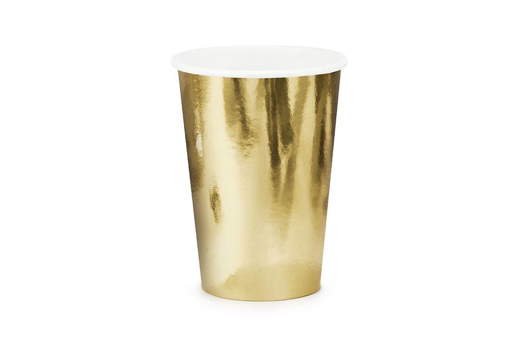 Čaše zlatne 220ml - 6 kom