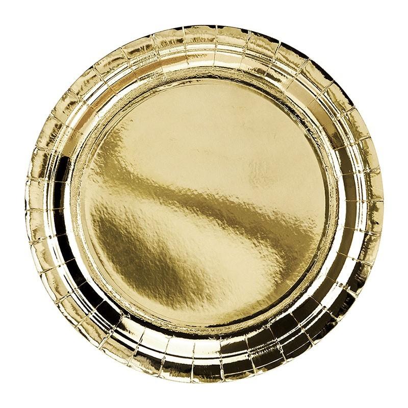 Tanjiri zlatni 23cm - 6 kom