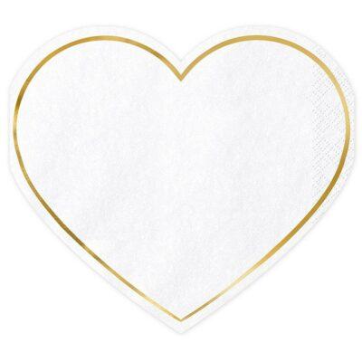 Salvete Srce 15.5cm - 20 kom