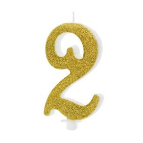 Svećica zlatna - 10cm - izaberite broj