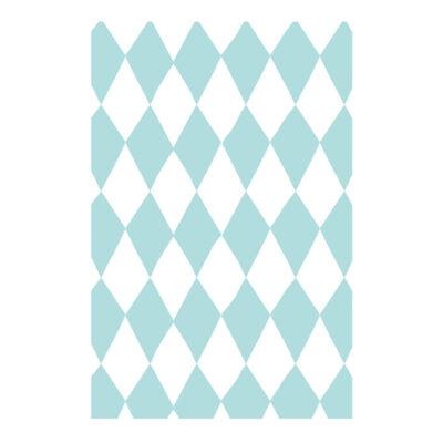 Ukrasni papir - tirkiz beli romboidi