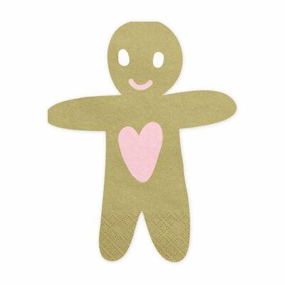 Salvete Gingerbread Man 16cm - 20 kom