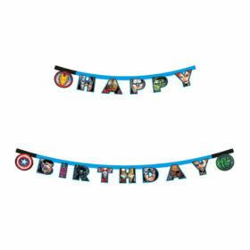 Baner Happy Birthday Avengers