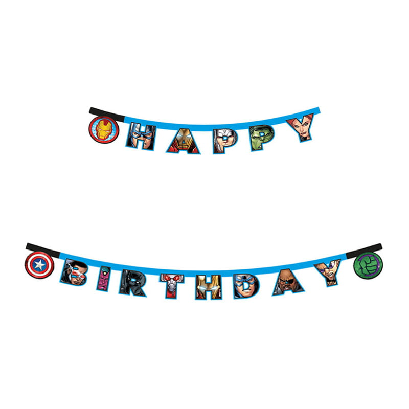 Baner Happy Birthday Avengers