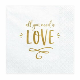 Salvete All you need is love 33cm - 20 kom