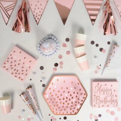 Rose Gold Blush Birthday